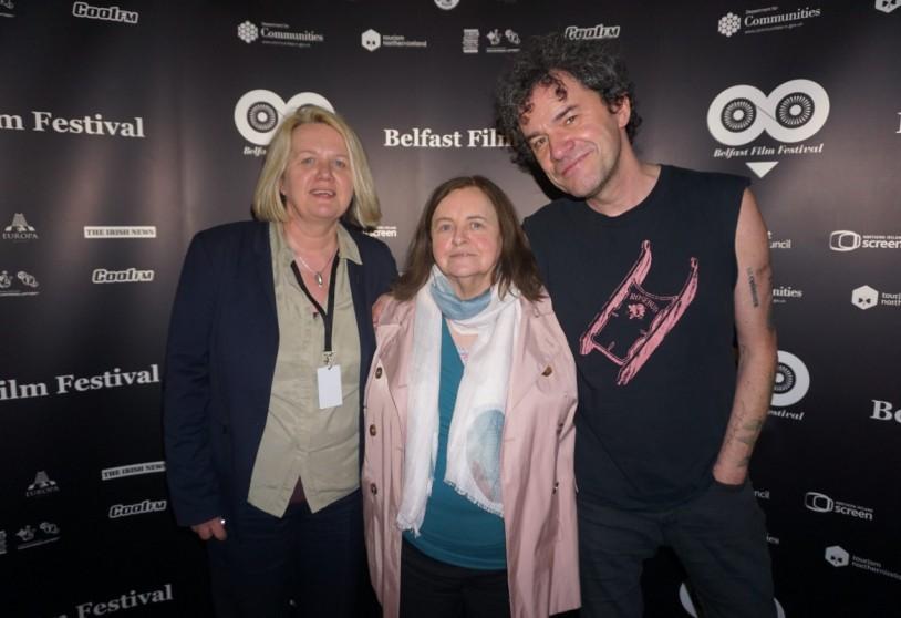 Michele Devlin, Bernadette Devlin and Mark Cousins at Black Panthers screening