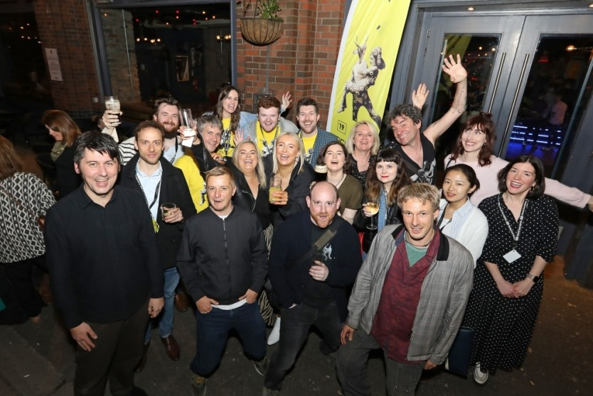 Belfast Film Festival team at the Closing Night Party